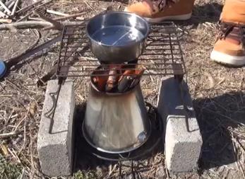 ソロストーブで二次燃焼